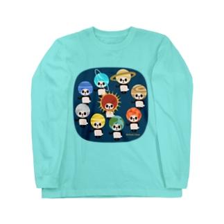 カブリモノ太陽系パンダ Long Sleeve T-Shirt