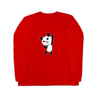 やる気に満ちたパンダ ロングスリーブTシャツ