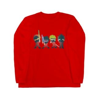 フォース3個分イカス色 ロングスリーブTシャツ