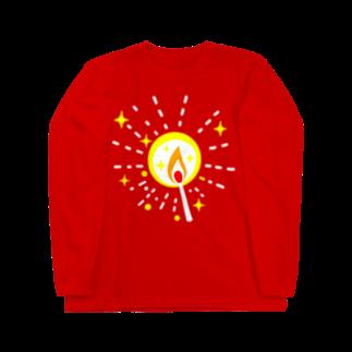 金星灯百貨店のマッチの灯(星)ロングスリーブTシャツ