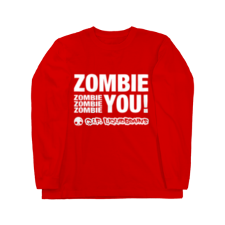 KohsukeのZombie You! (white print)ロングスリーブTシャツ