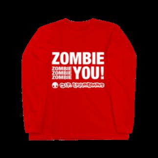 KohsukeのZombie You! (white print) ロングスリーブTシャツ
