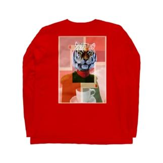 アムトラコーヒー(リアル)バックプリント Long sleeve T-shirts