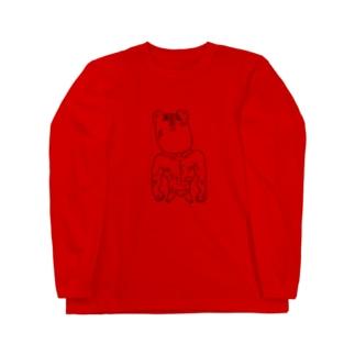 だいごろうの激昂のクマたん。 Long sleeve T-shirts