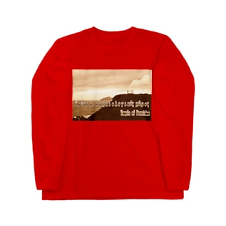 ギリシャ:スニオン岬のポセイドーン神殿 Greece:Temple of Poseidon at Cape Sounion Long sleeve T-shirts