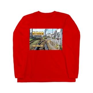 東京都:都電荒川車庫前 Tokyo: Arakawa-shakomae of Tokyo Sakura Tram Long sleeve T-shirts