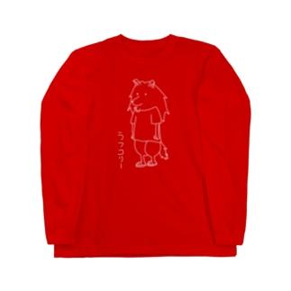 ラフコリーver.白 Long sleeve T-shirts