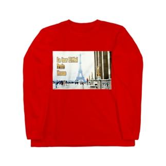 フランス:エッフェル塔 France: Eiffel Tower & Palais de Chaillot Long sleeve T-shirts