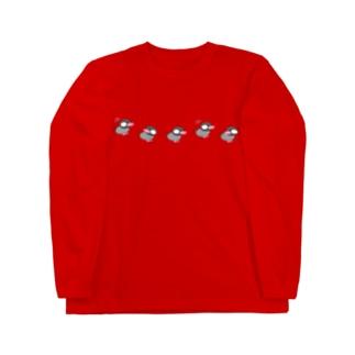 ブンちゃん(桜文鳥)ぴょんぴょん Long sleeve T-shirts