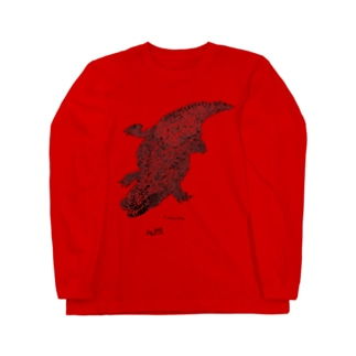 ナイルワニ(黒) Long sleeve T-shirts