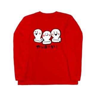 お餅ちゃん、3兄弟 Long sleeve T-shirts