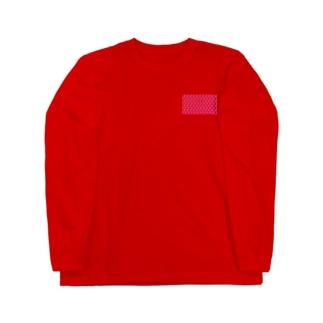 kana design factoryの3Dハートのかわいいパターン Long sleeve T-shirts