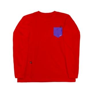 ポケットからARI 🐜 むらさき Long sleeve T-shirts