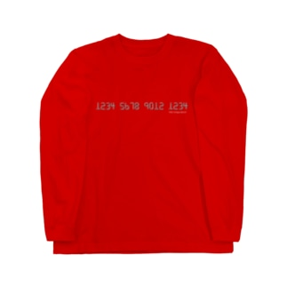 card number Long sleeve T-shirts