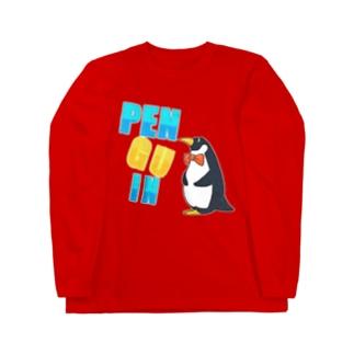 ちょうネクタイペンギン Long sleeve T-shirts