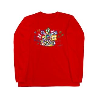 才能の花 「0」 拡大と循環 Long sleeve T-shirts