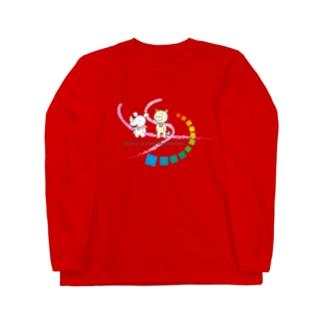 シキサイとウラオモテヤマネコ Long sleeve T-shirts