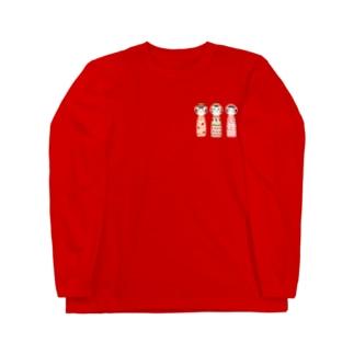 こけし三人娘 Long sleeve T-shirts