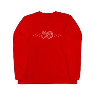 くまぞーとめるるのルンルン Long sleeve T-shirts