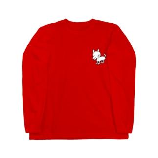 DHKN12 ローラースケート犬 Long sleeve T-shirts