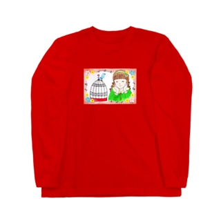 「私の青い鳥」 Long sleeve T-shirts