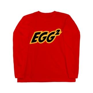 """Red"" EGG² Logo Long T-shirts Long Sleeve T-Shirt"