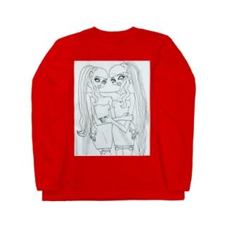 girls 3 mono  Long sleeve T-shirts
