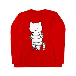 ボンレスニャン(カラー) Long sleeve T-shirts