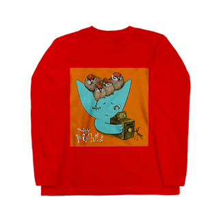 FINCH LIQUEUR RECORDSのピンホール Long sleeve T-shirts