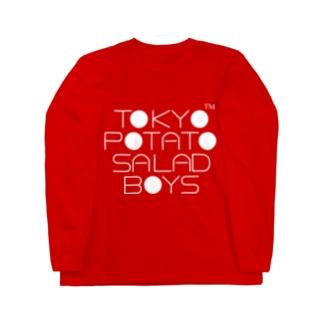 東京ポテトサラダボーイズ公式ネオクラシック(白)ロゴ Long sleeve T-shirts