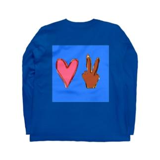 ラブアンドピース Long sleeve T-shirts