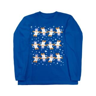 宇宙フォークダンス(無重力)  Long sleeve T-shirts