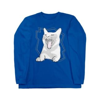 猫シャウト! Long sleeve T-shirts
