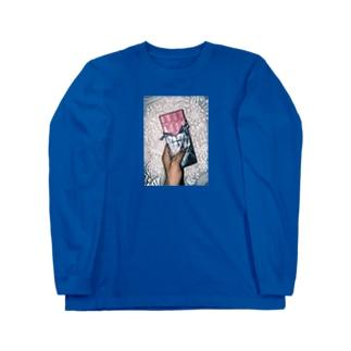 板チョコイチゴ味 Long sleeve T-shirts