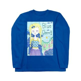 Blue cherry Long sleeve T-shirts