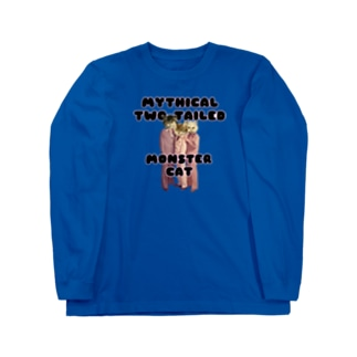 MYTHICAL TWO TAILED MONSTER CAT Long sleeve T-shirts