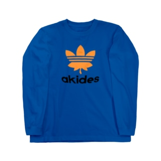 adidasのパロディでakides Long sleeve T-shirts