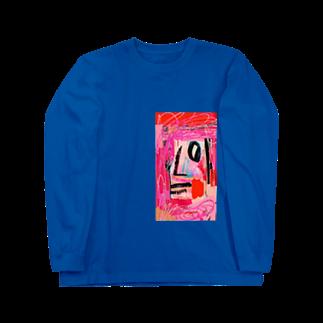 FRESH⭐︎DRAWING 2020のさくら色のportrait Long sleeve T-shirts