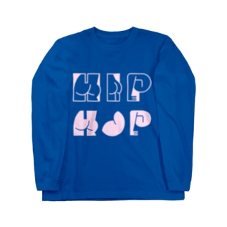 HAPPY ASS HIP HOP! ネオンピンク Long sleeve T-shirts