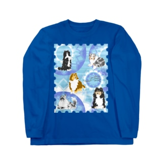 Five colors of Shetland Sheepdogs.~Turquoise~ Long sleeve T-shirts