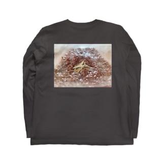 茶ガエル Long sleeve T-shirts