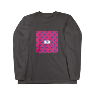 Brue Rose ビビッドピンク  Long sleeve T-shirts