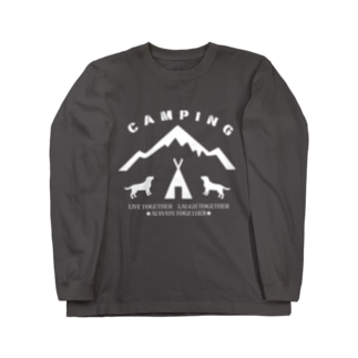 CAMPING 白 Long sleeve T-shirts