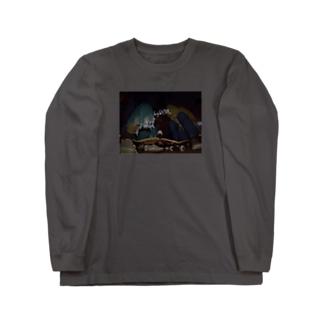 スケボーで Long sleeve T-shirts