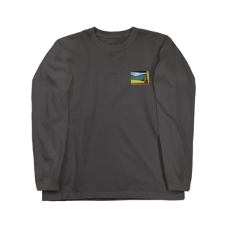 大谷工房のロフト壁 Otani studio's loft wall Long sleeve T-shirts