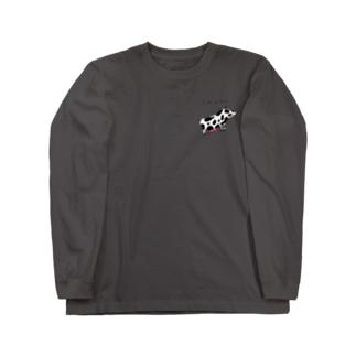 Coffee Stainの牛になりたい豚。 Long sleeve T-shirts