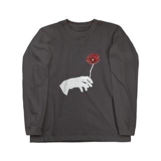 温室【A】の喫烟する花言葉 Long sleeve T-shirts