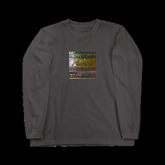 ぬっのコンクリートと池の水 Long sleeve T-shirts