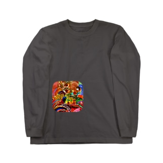 四ツ目カオス Long sleeve T-shirts