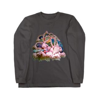 ヒュー ン ヒュ ラ ラ Long sleeve T-shirts